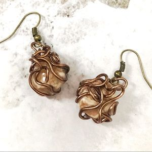 BOGO💫Chocolate Wire Wrapped Natural River Rock